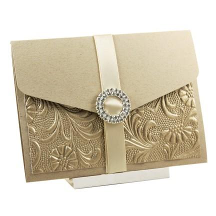 brown pocket wedding invitation red rose invitations