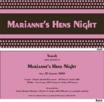 HBSINV005 Purple and Brown Hens Night Invitation