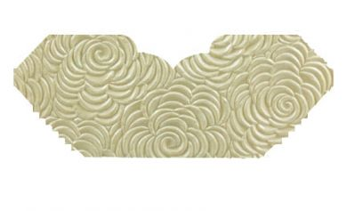 Bouquet Ivory Pearl Embossed Invitation Add-A-Pocket