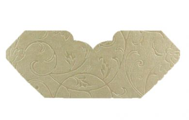 Olivia Ivory Pearl Embossed Invitation Add-A-Pocket
