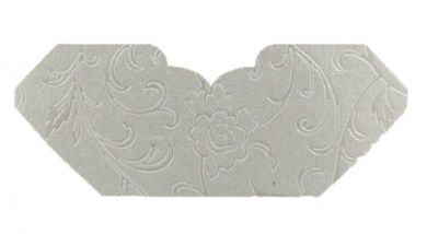 Olivia White Pearl Embossed Invitation Add-A-Pocket