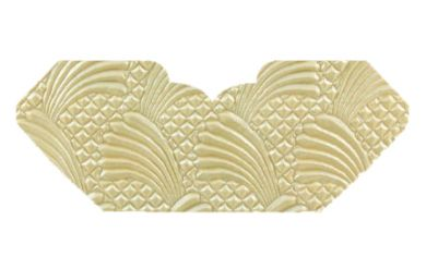 Sea Breeze Ivory Pearl Embossed Invitation Add-A-Pocket