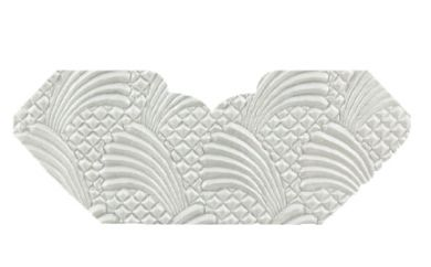 Sea Breeze White Pearl Embossed Invitation Add-A-Pocket