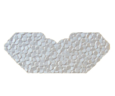 White Pebbles Embossed Invitation Add-A-Pocket