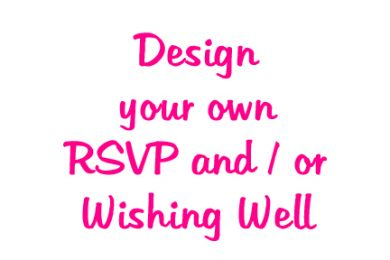 DIY design your own RSVP and wishing well