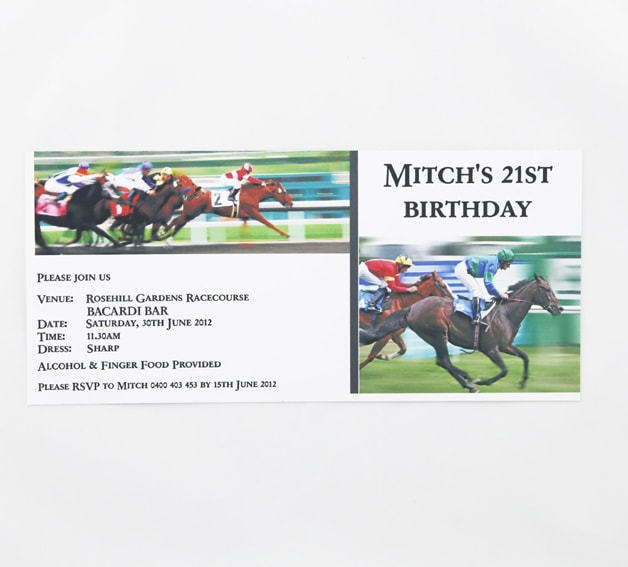 Day At The Races Birthday Invitation Red Rose Invitations