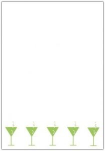Green Martinis Translucent Invitation Paper