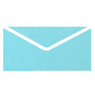 Cyan Colourful Plain Invitation Envelopes