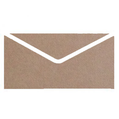 Mid Brown Colourful Plain Invitation Envelopes
