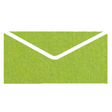 Modern Green Colourful Plain Invitation Envelopes