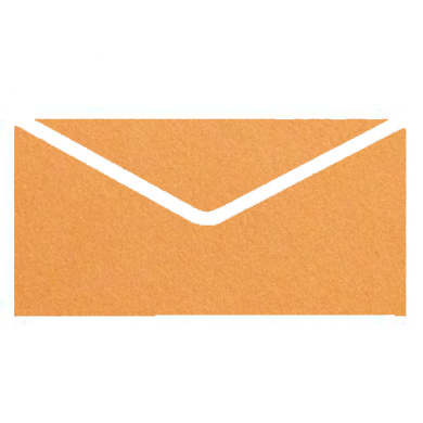 Orange Colourful Plain Invitation Envelopes