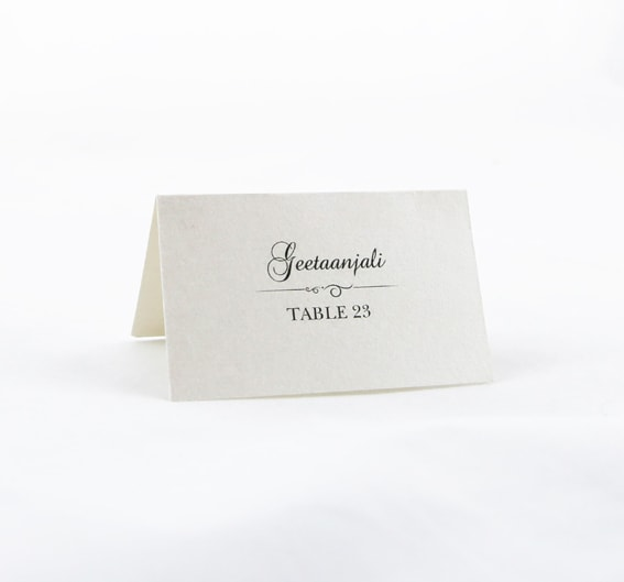 Place Cards Individual