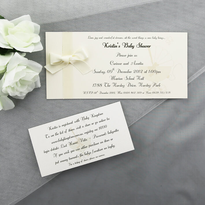 Elegant Neutral Baby Shower Invitation
