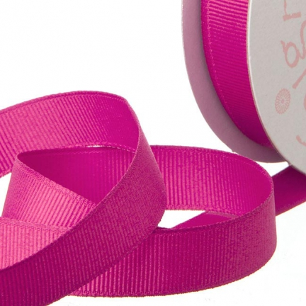 Bright Pink Grosgrain Invitation Ribbon