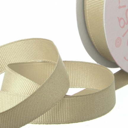 Natural Grosgrain Invitation Ribbon