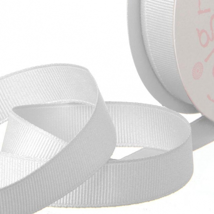 White Grosgrain Invitation Ribbon