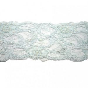 Baby Blue Beaded Lace for Invitations