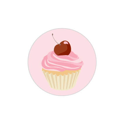Cupcake Sticker Large