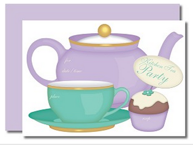 KITINV14 Tea Party Fill In Kitchen Tea Invitation