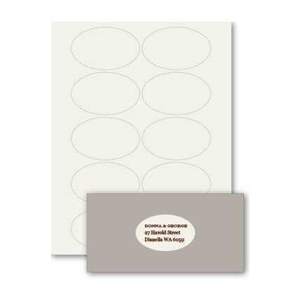 STICK28 Oval Labels Plain Vanilla Bean