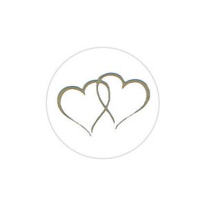 Twin Heart Gold Sticker Large