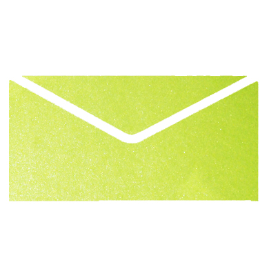 Apple Green Metallic Invitation Envelopes