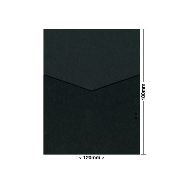 Black Midnight Eco Luxury DIY Invitation Pouch Style D