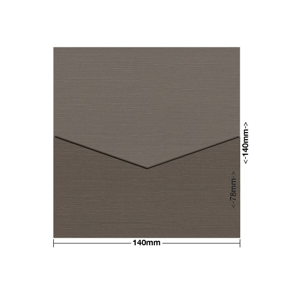 Chocolate Zsa Zsa Textured DIY Invitation Pouch Style D