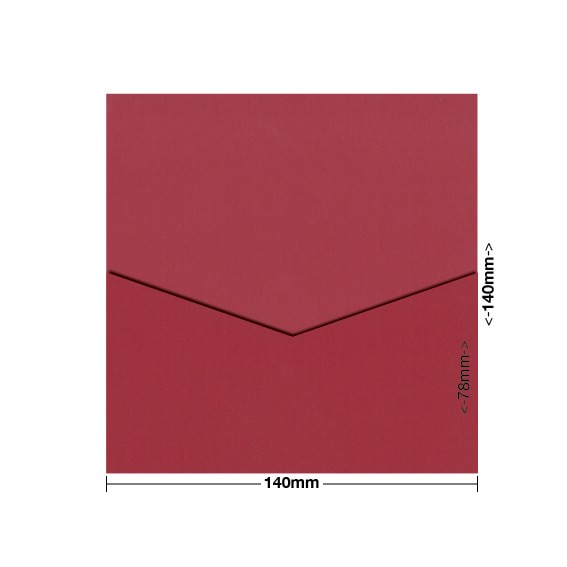 Devil Red Eco Luxury DIY Invitation Pouch Style D