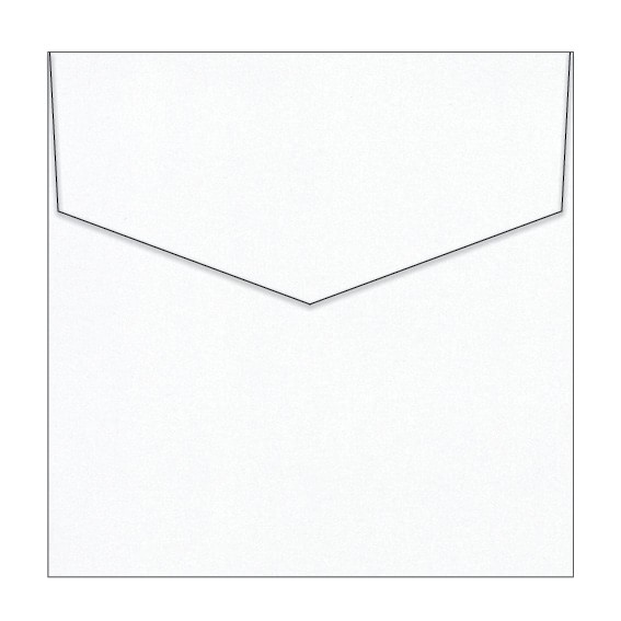 Diamond White Metallic Invitation Envelopes