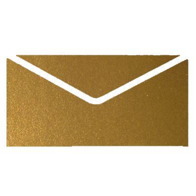 Gold Crystal Perle Metallic Invitation Envelopes