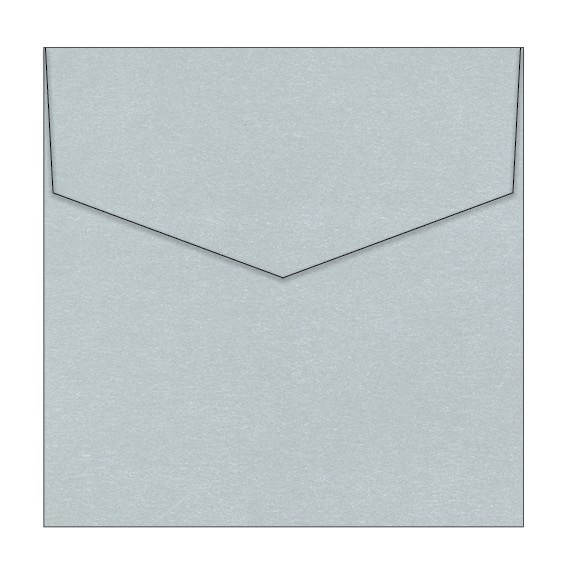 Princess Silver Metallic Invitation Envelopes