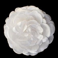 Soft and ruffled fabric flower for invitations