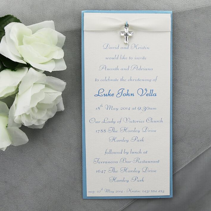 baby boy christening invitation red rose invitations