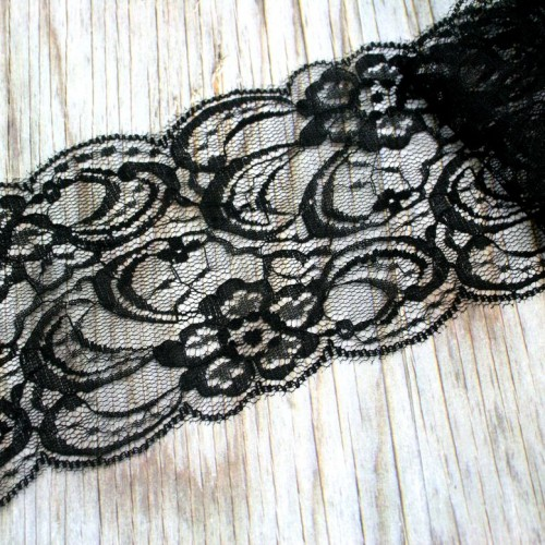 Black Lace Roll for Invitations