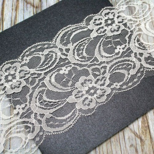 Cream Lace Roll for Invitations