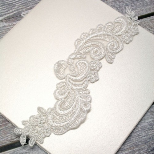 Ivory Floral Lace Piece for Invitations