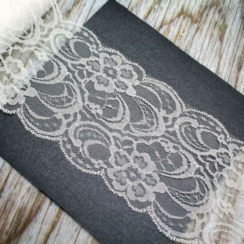 Ivory Lace Roll for Invitations