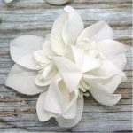 Multi-orchids Fabric flower for invitations