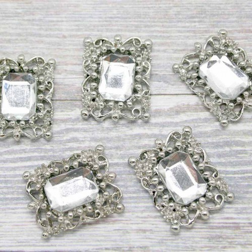 Rectangle Rhinestone Cluster for Invitations