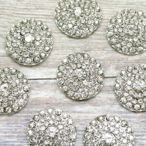 Round Multiple Layer Diamante Cluster for Invitations