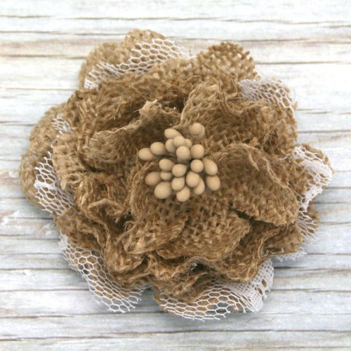 Rustic Flower with Lace for Invitatons