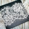 White Eyelash Lace for Invitations