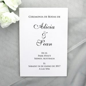 CHURBK06 White Wedding Spanish Ceremony Book