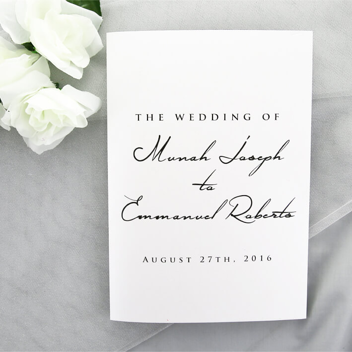 Ceremony And Reception Folded Card