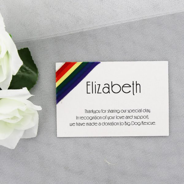 WEDIN144 Rainbow place card