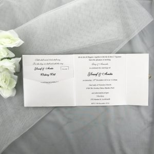 WEDINV16 inside of Ivory Floral Square Gatefold Lasercut wedding Invitations