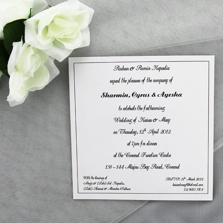 printed white wedding invitation red rose invitations