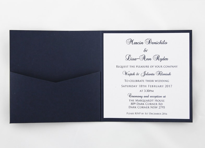 Red White And Blue Wedding Invitations: Navy Blue And White Wedding Invite
