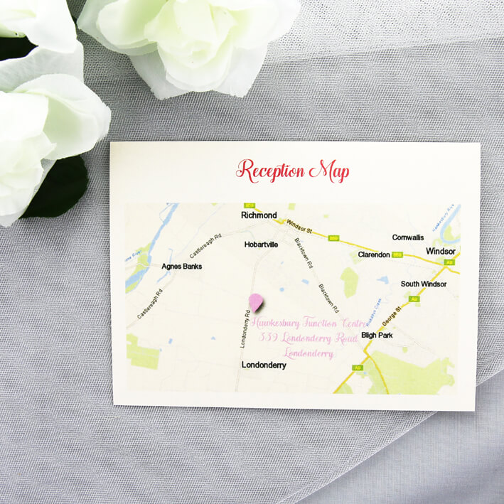 Ceremony Or Reception Map Card